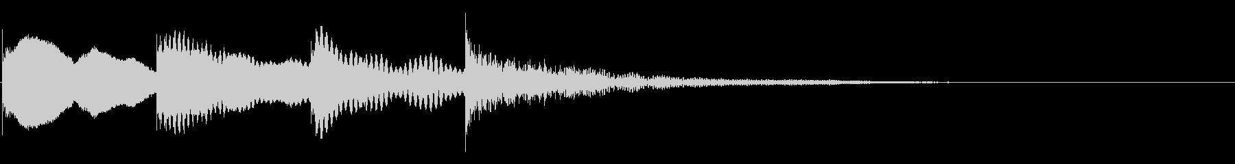 マリンバ効果音 ピンポンパンポン の未再生の波形