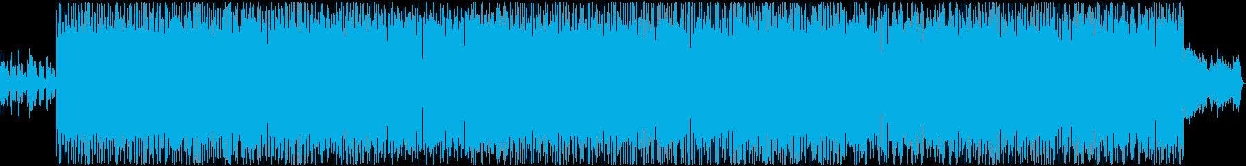 元気なリズムのハウスの再生済みの波形