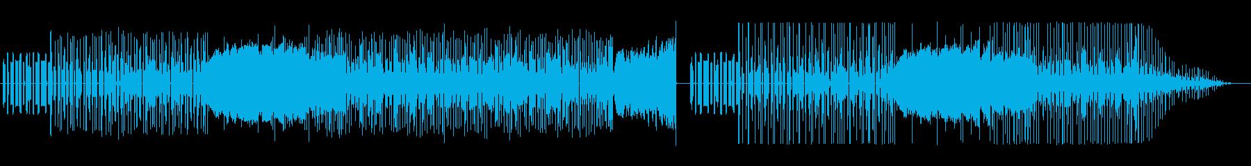 ファミリーコンピューターな音楽の再生済みの波形