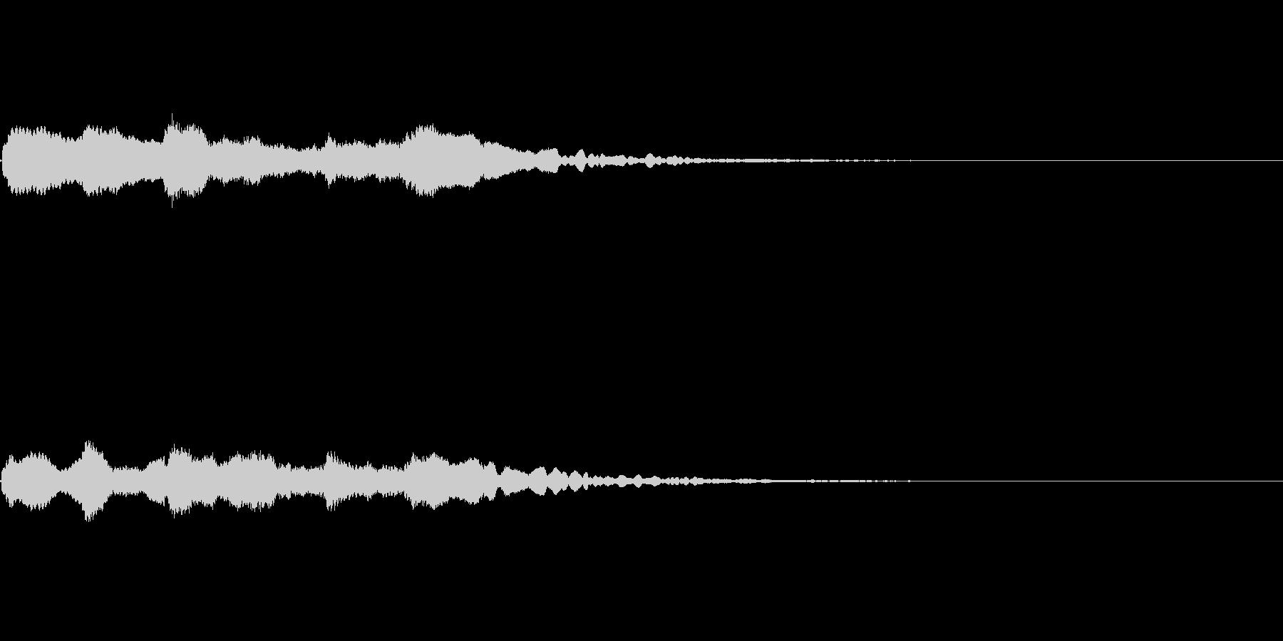 キラキラ 場面転換の未再生の波形