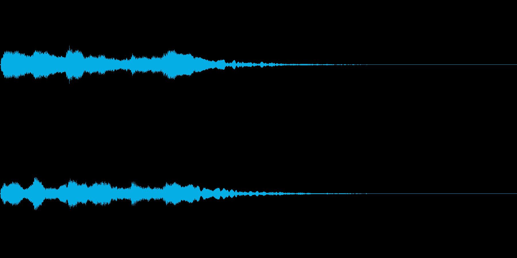 キラキラ 場面転換の再生済みの波形