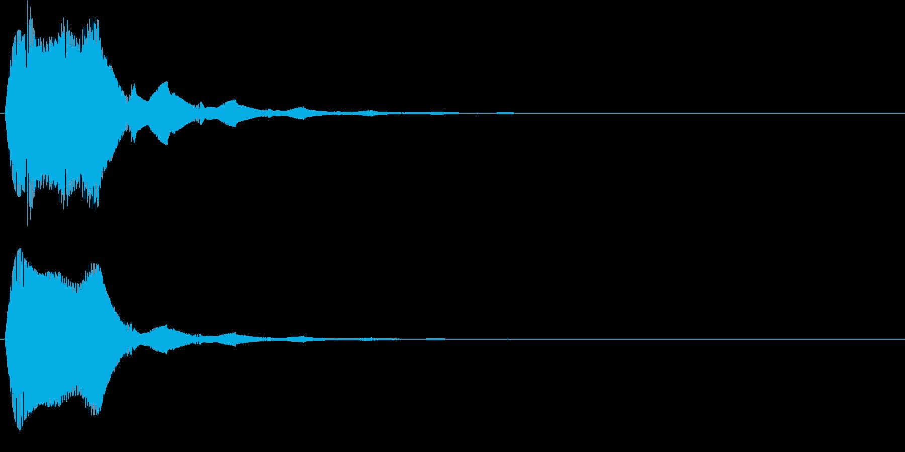キュピン!01・画面タッチや文字表示時にの再生済みの波形