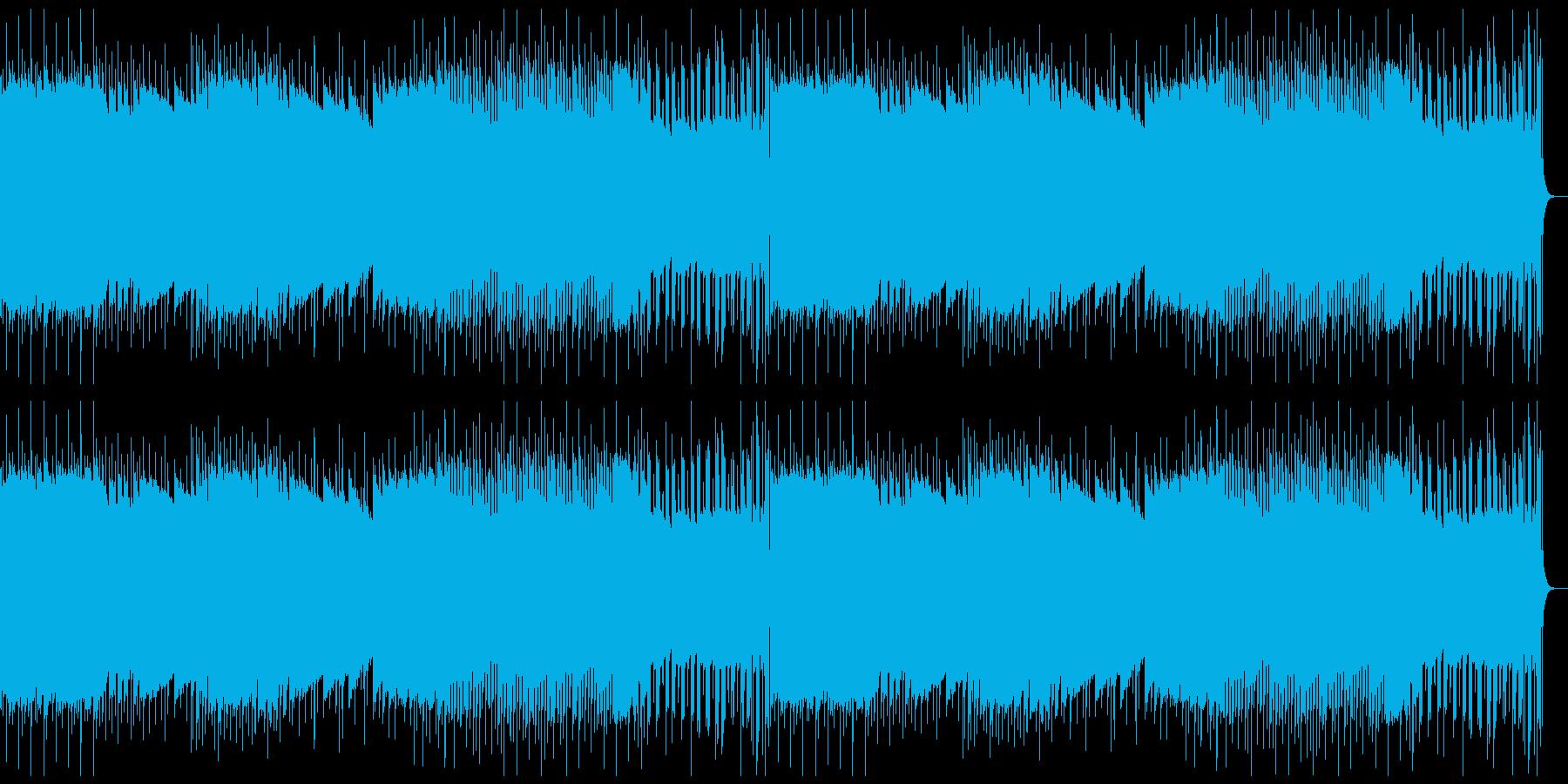 レトロゲーム風BGM(軽快)の再生済みの波形