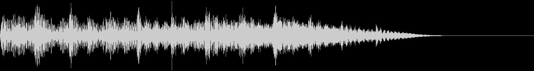 上昇音・キラーン・シャララン・チェレスタの未再生の波形