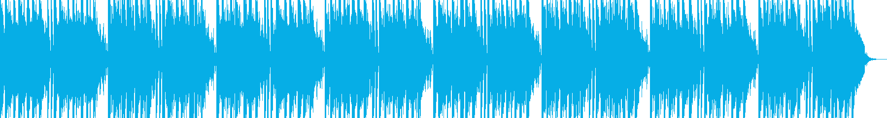 キラキラ感のシンセサイザーBGMの再生済みの波形