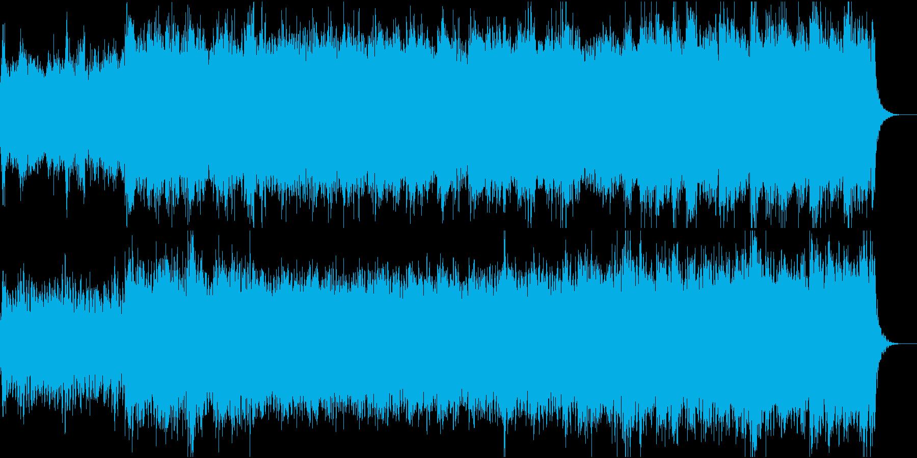 波の揺れを表現した、開放感が特徴のBGMの再生済みの波形