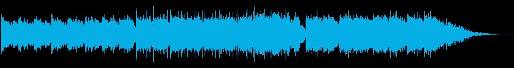 「啓蟄」をイメージした穏やかな曲の再生済みの波形