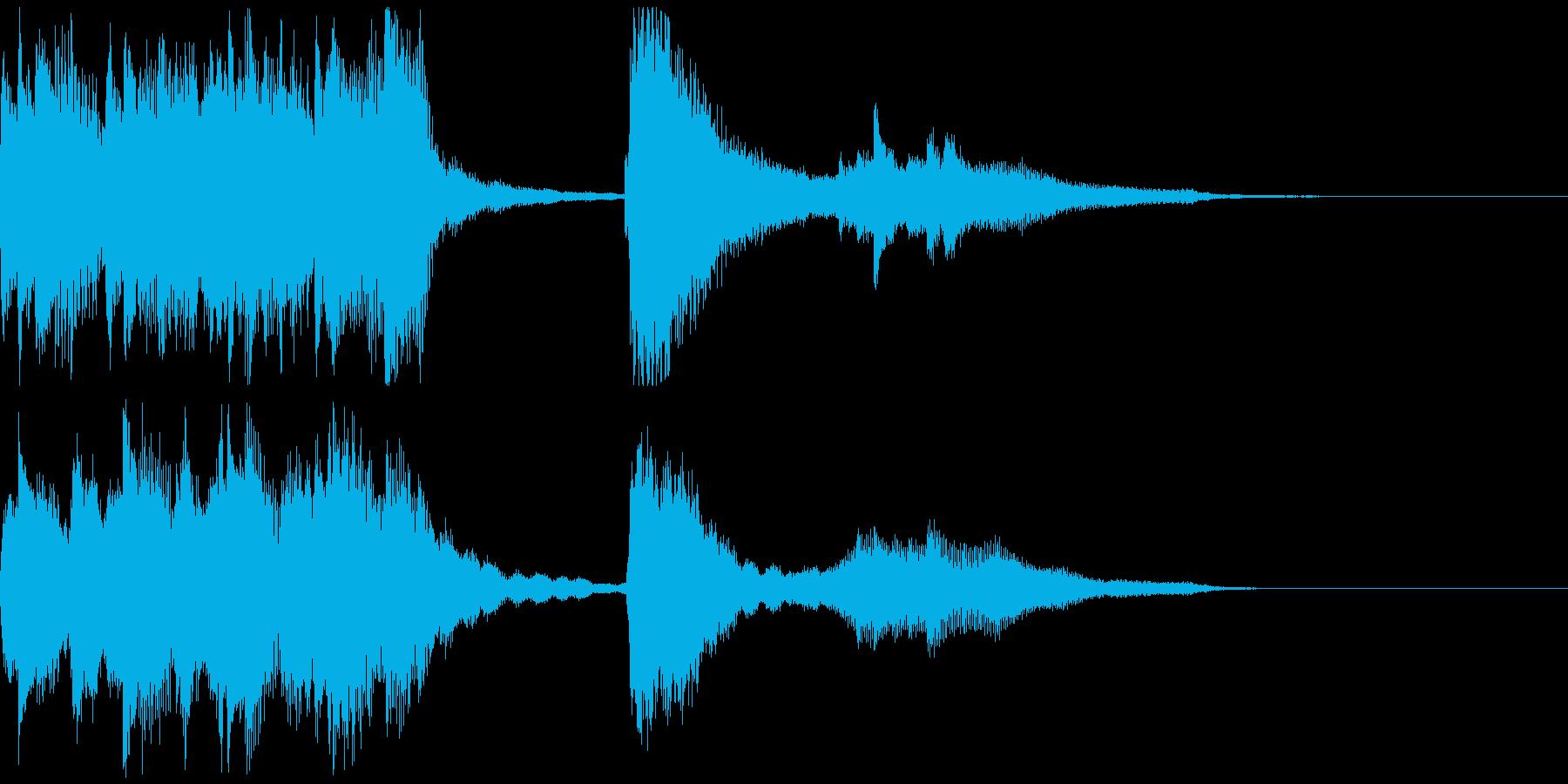 キラキラしたファンタジックなジングルの再生済みの波形