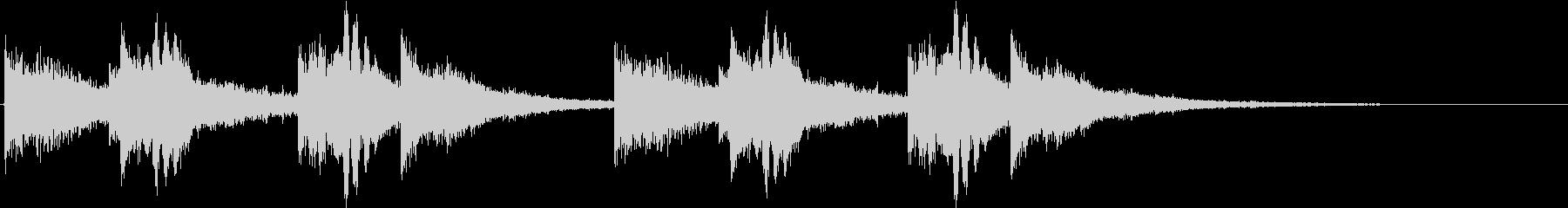 「ドーン・カーン」恐怖を感じる金属音の未再生の波形