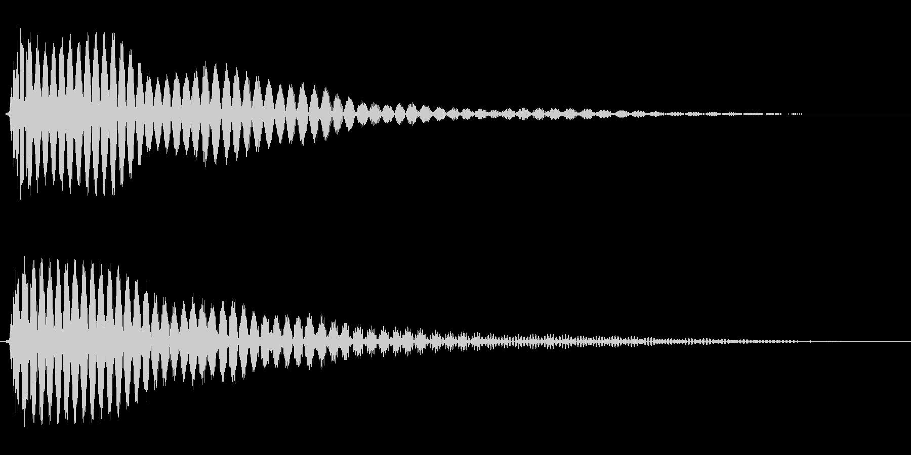 プ〜ン(ちょっとガッカリした時の効果音)の未再生の波形
