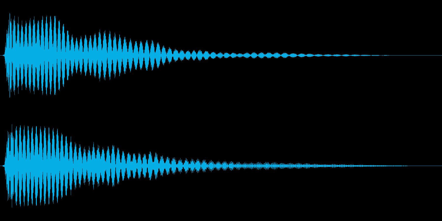 プ〜ン(ちょっとガッカリした時の効果音)の再生済みの波形