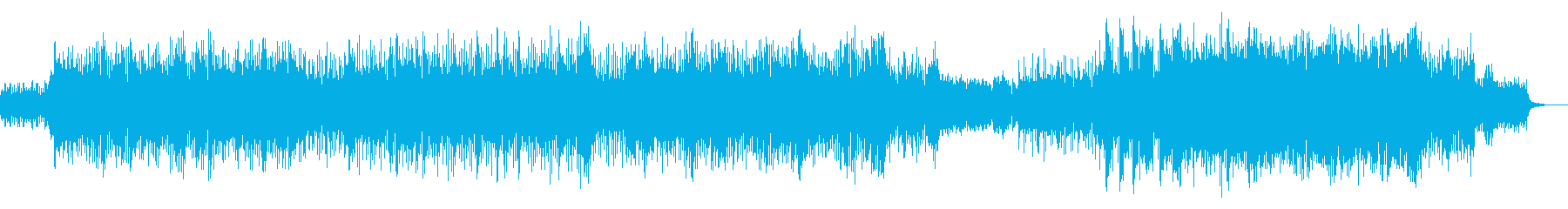 アップテンポで力強い沖縄ソングの再生済みの波形