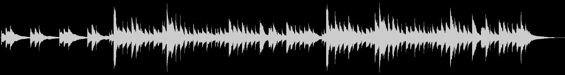 アイリッシュハープの物悲しいBGMの未再生の波形