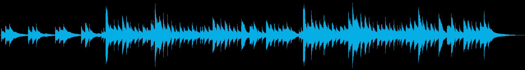 アイリッシュハープの物悲しいBGMの再生済みの波形