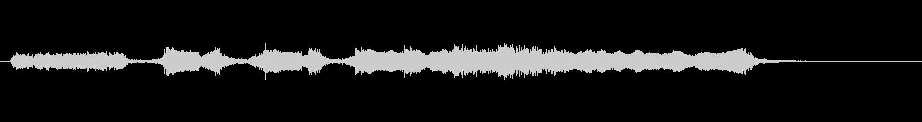 篠笛、太鼓、掛け声の和風ジングル(8秒)の未再生の波形