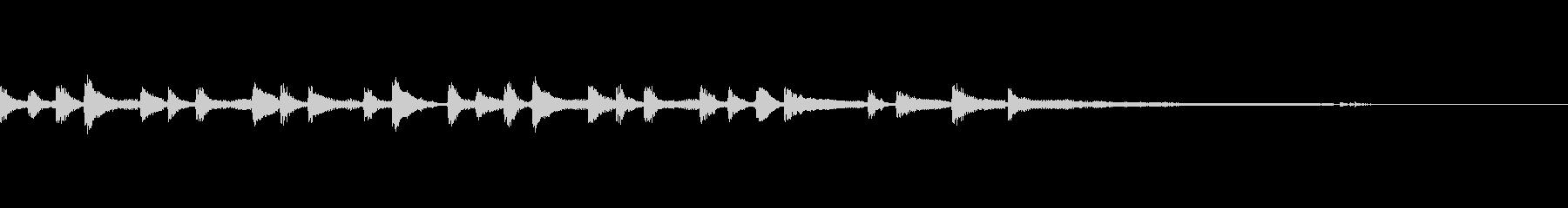 ポップなジングルですの未再生の波形