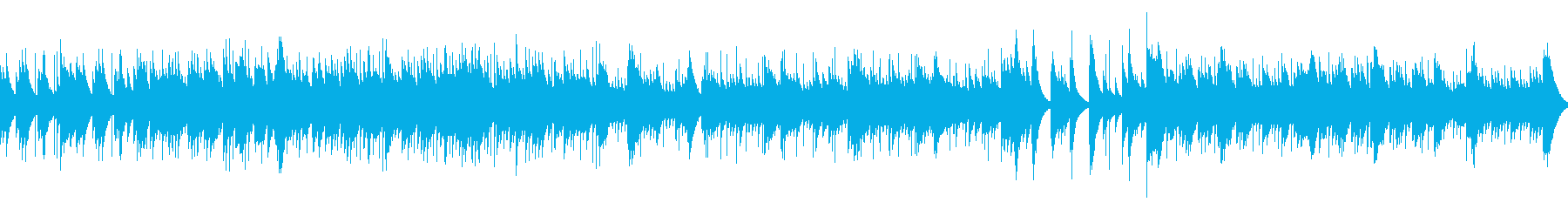 物語の始まりのようなオルゴール(ループ)の再生済みの波形