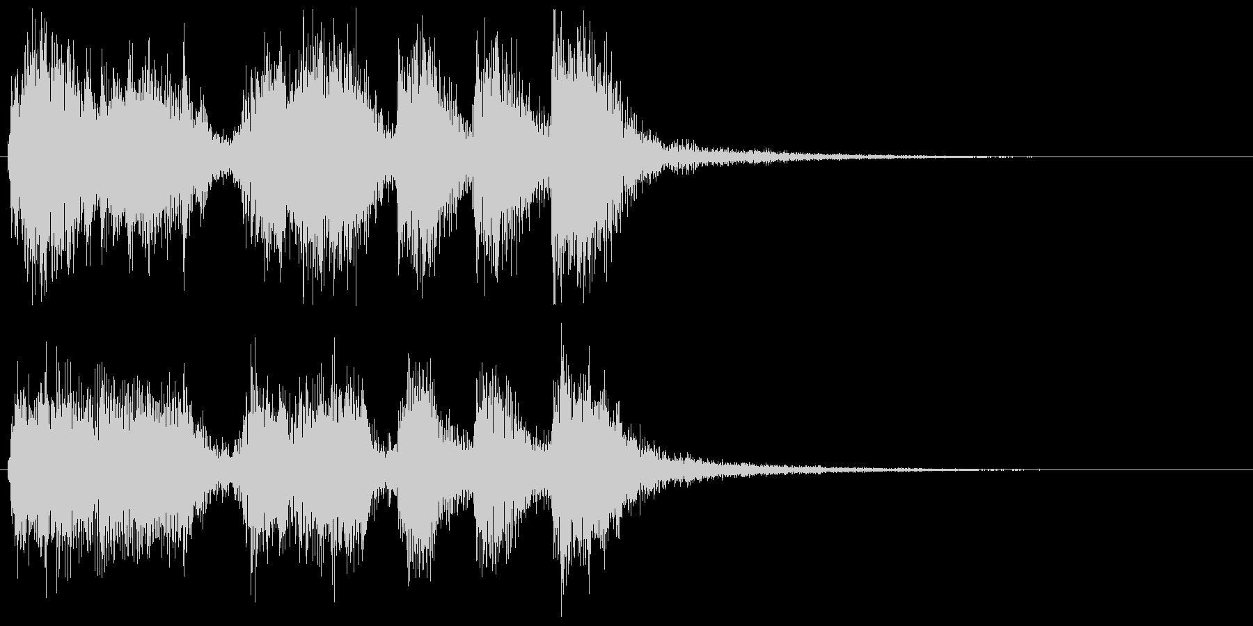 派手なレベルアップ音↑(オーケストラ風)の未再生の波形
