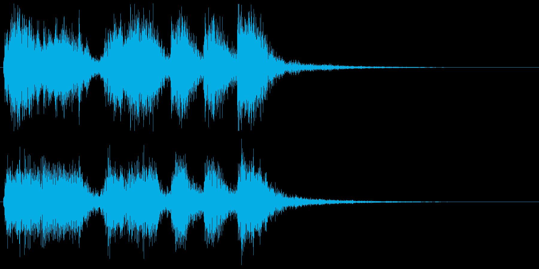 派手なレベルアップ音↑(オーケストラ風)の再生済みの波形