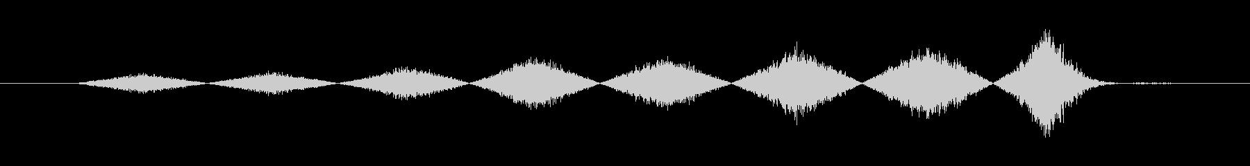 ビックリ音(ホラー・ゲームオーバー)の未再生の波形