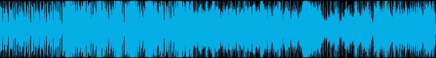 RPGゲーム通常バトル曲の再生済みの波形
