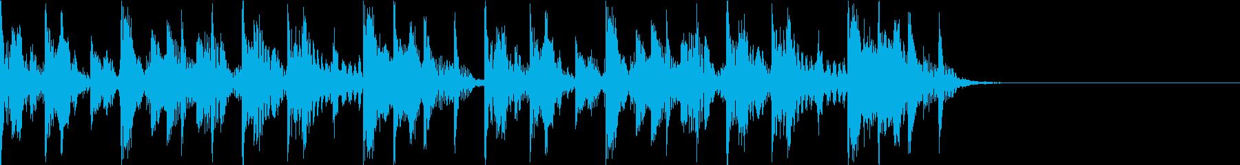 動画の幕間BGM 罰ゲームタイトル風の再生済みの波形