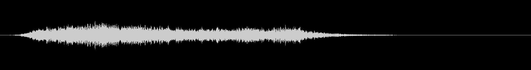 スペース降順メロディックミュージカルロゴの未再生の波形