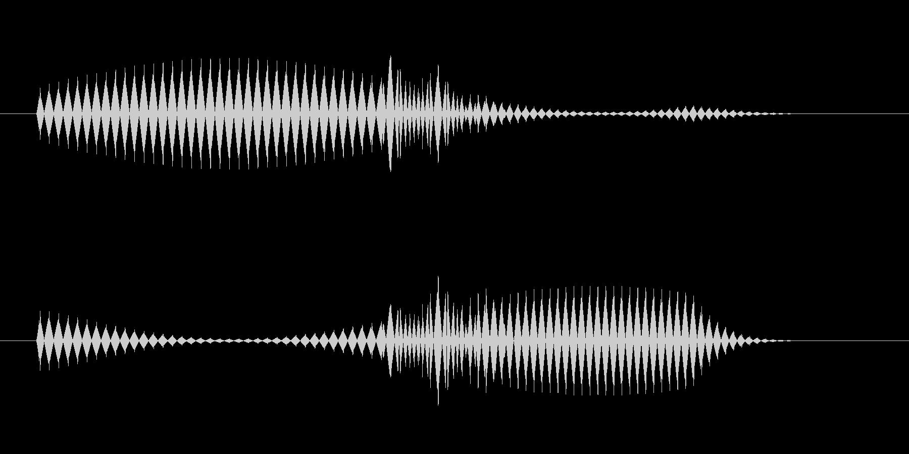 ピコッ(アラート音・ふきだし音)の未再生の波形