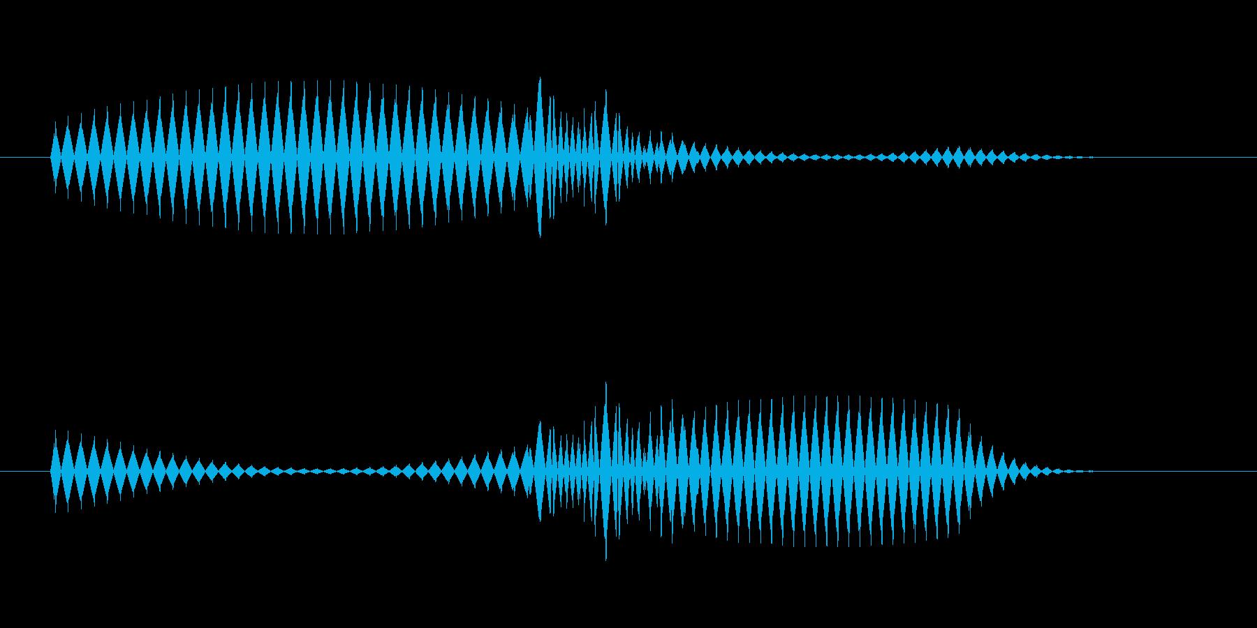 ピコッ(アラート音・ふきだし音)の再生済みの波形