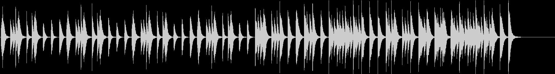 ほんわかカワイイ子供/動物場面ピアノソロの未再生の波形