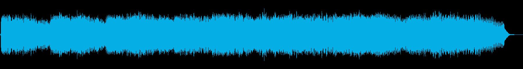 ひっそりと不思議な水っぽい雰囲気のBGMの再生済みの波形