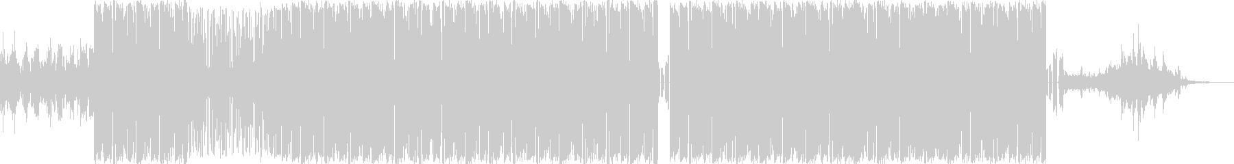 メロウなヒップホップビートのインストの未再生の波形