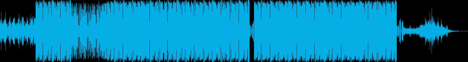 メロウなヒップホップビートのインストの再生済みの波形