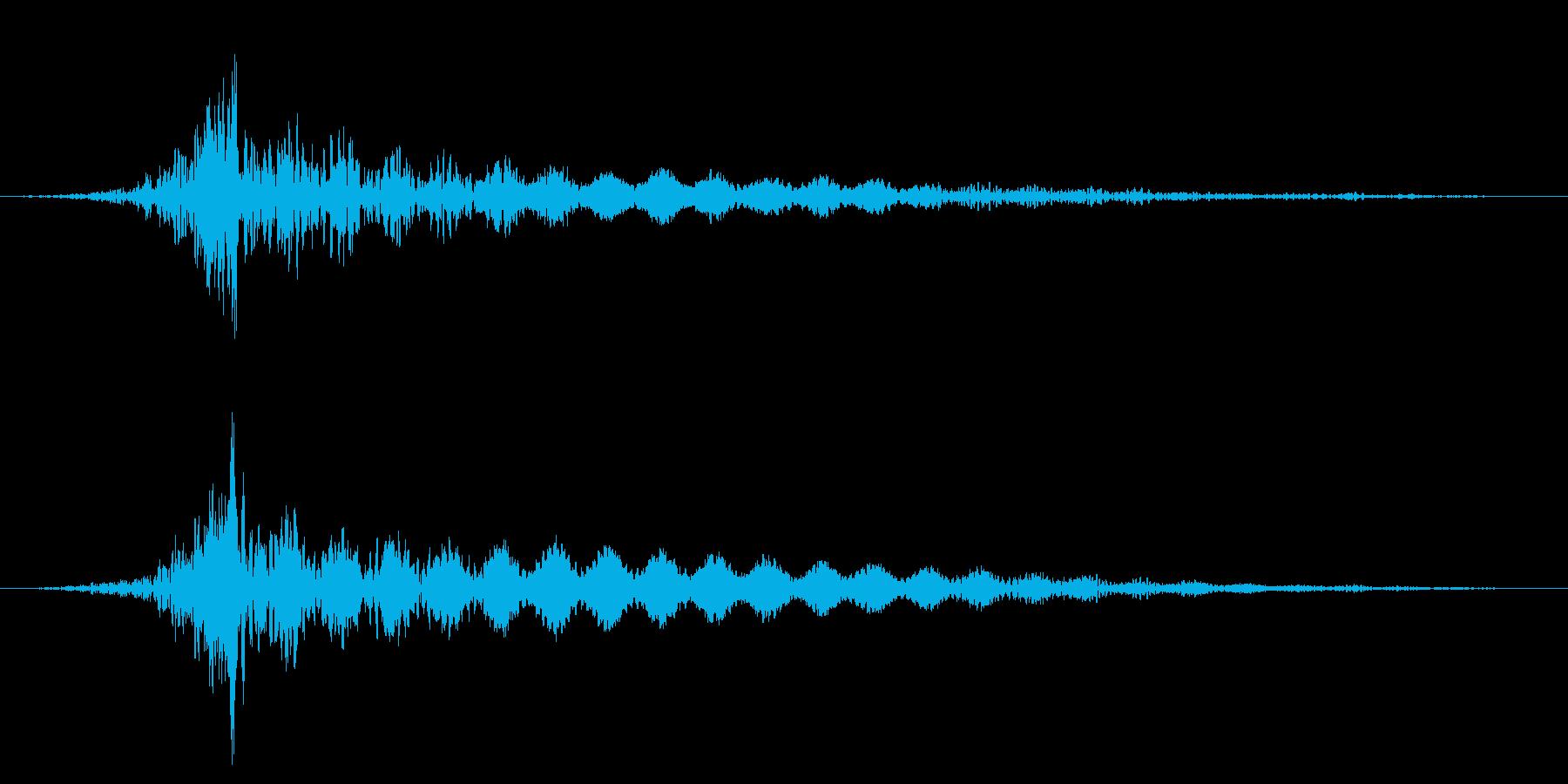 ホラー系アタック音126の再生済みの波形