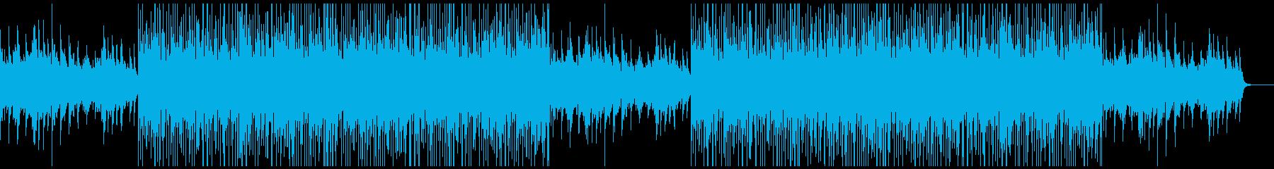 トラックメーカー風切ないピアノBGMの再生済みの波形