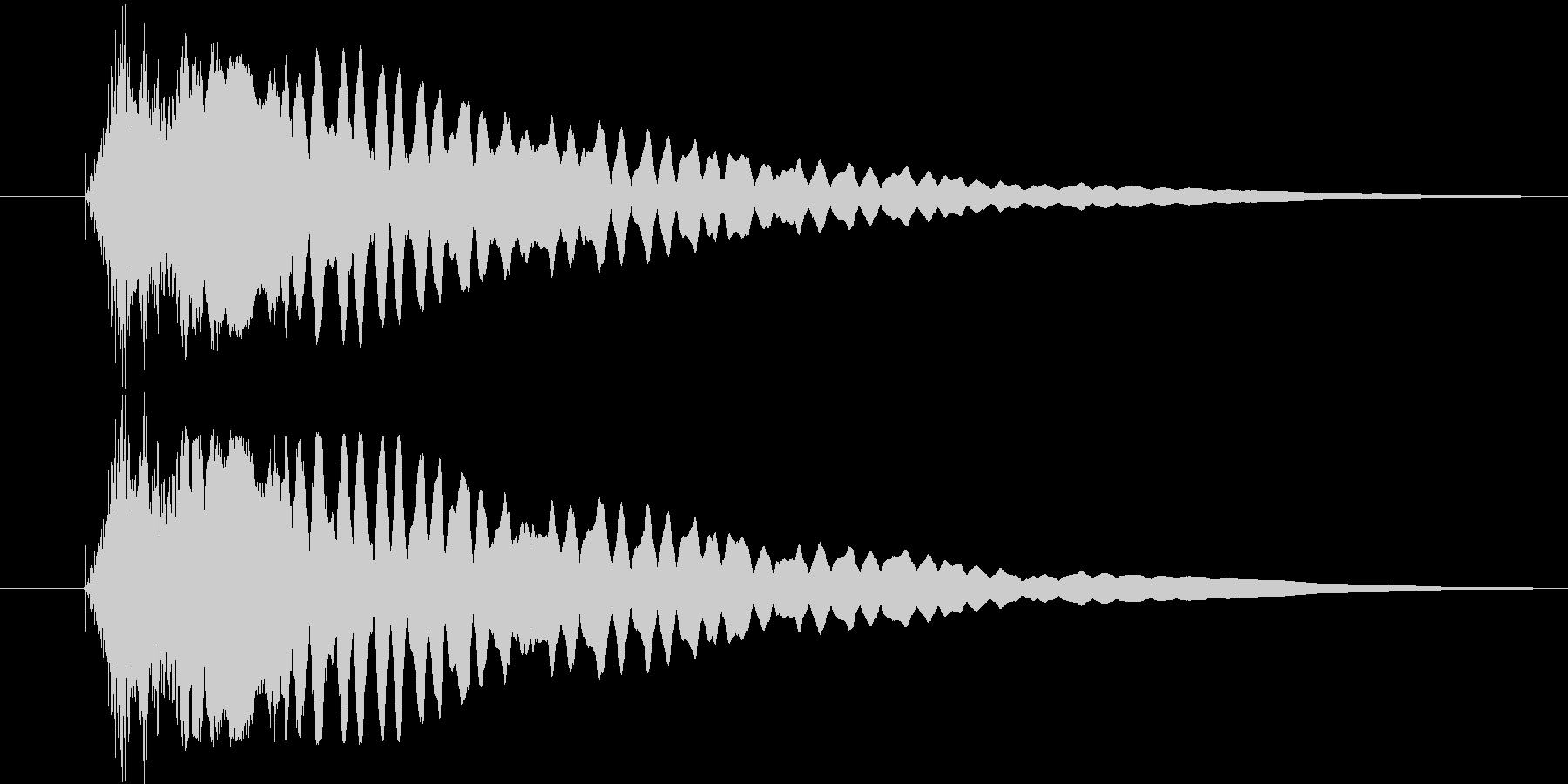 ヒューンと落下の未再生の波形