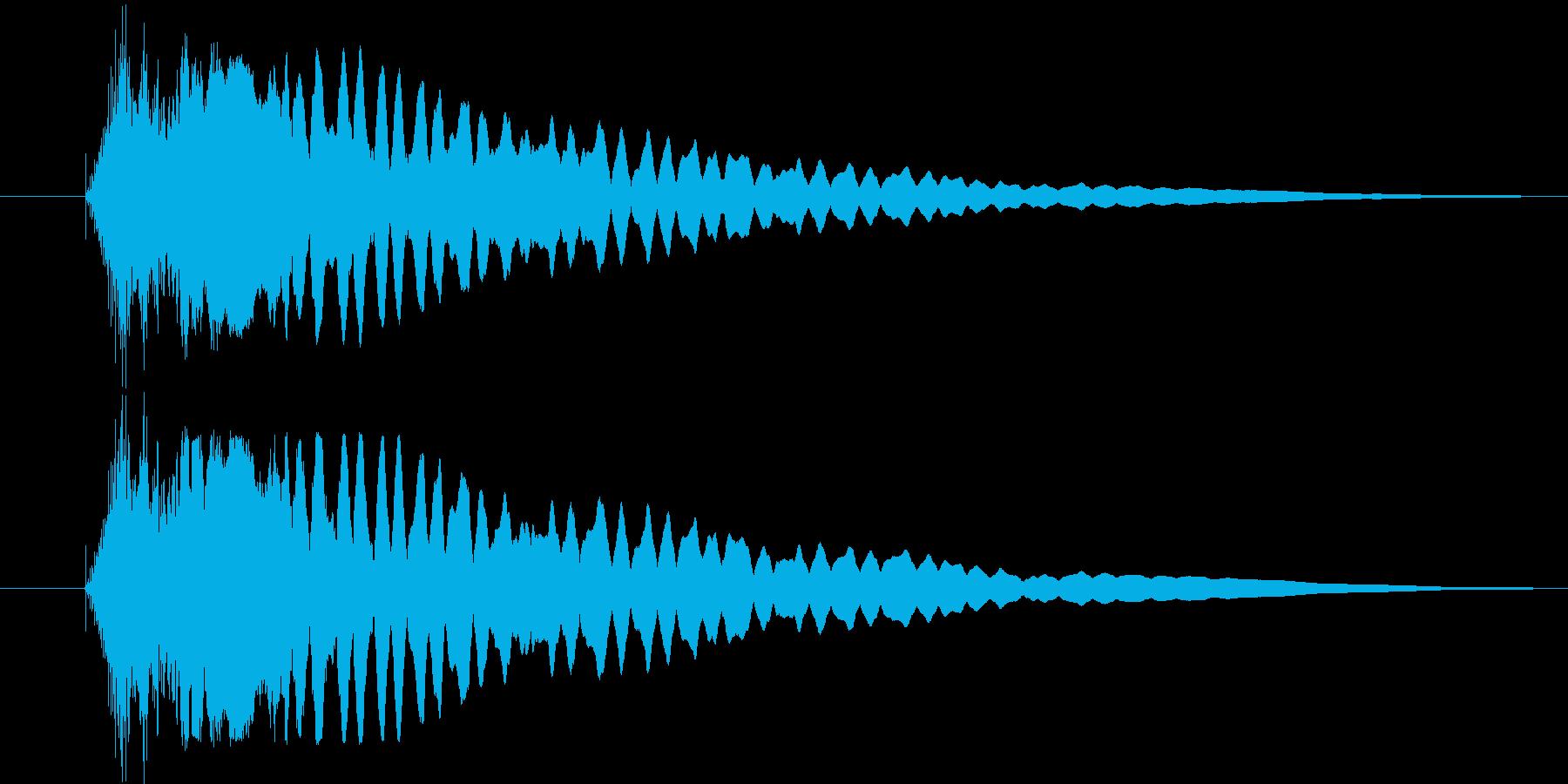 ヒューンと落下の再生済みの波形