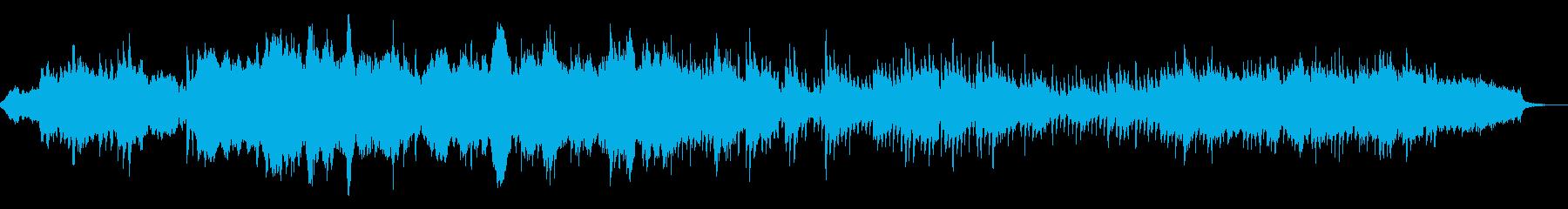 神秘的なイメージのBGMの再生済みの波形