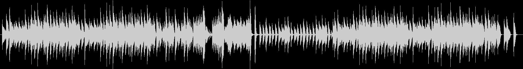 ちょっとノスタルジックなピアノ曲の未再生の波形