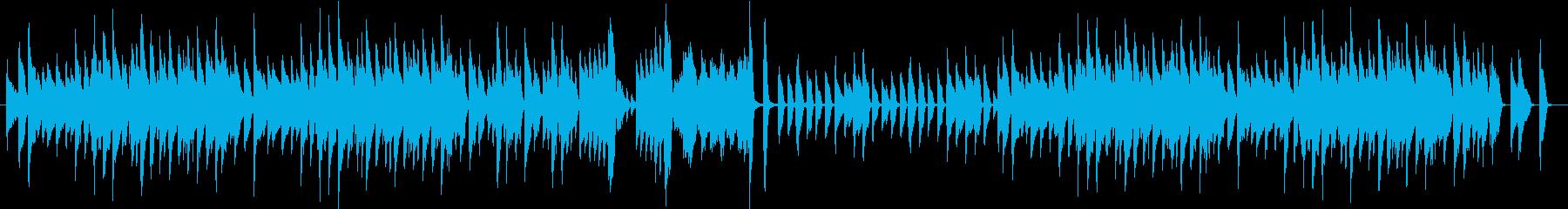 ちょっとノスタルジックなピアノ曲の再生済みの波形