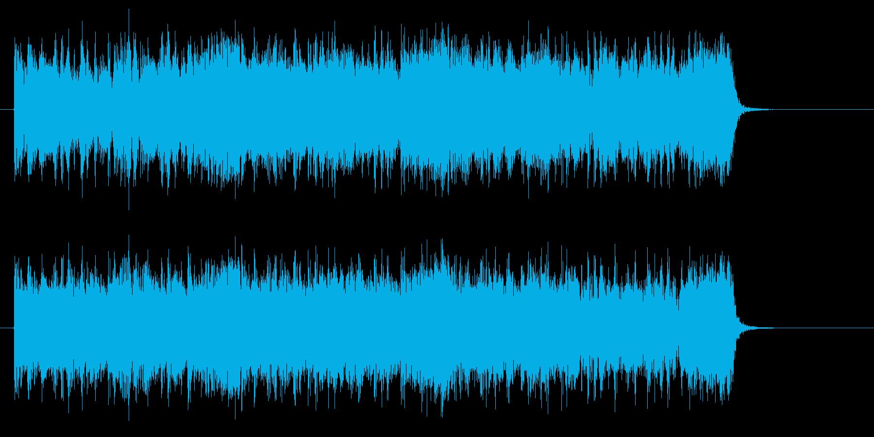 勢いがあり激しくベースが印象的なロックの再生済みの波形