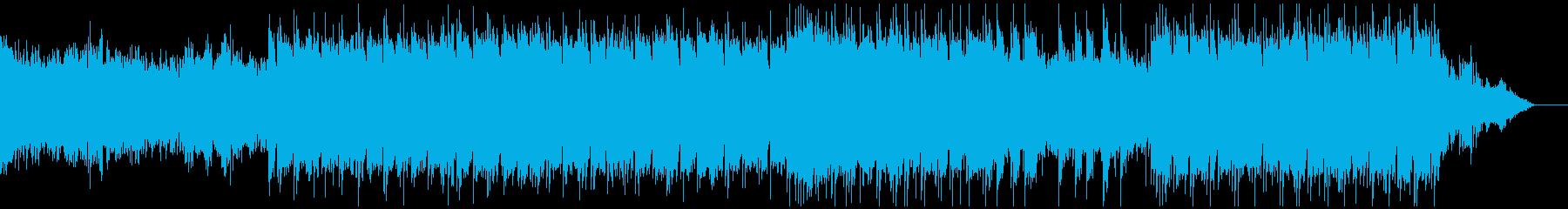 ホラーが起こる前後の不気味な雰囲気の曲の再生済みの波形