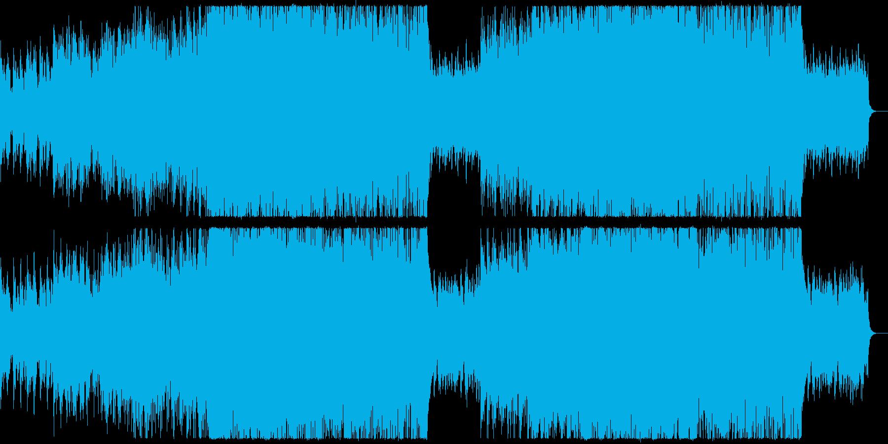 中国/オリエンタル風のバトル曲の再生済みの波形