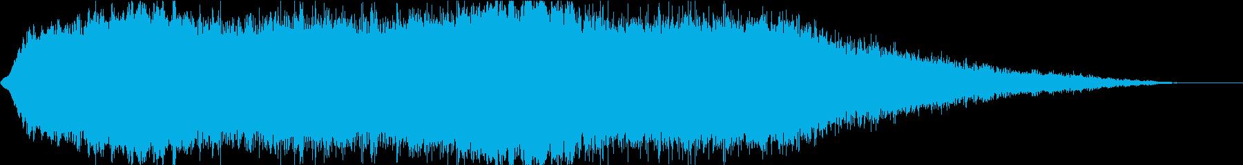SFで新しいモノが誕生する時の神秘的な音の再生済みの波形