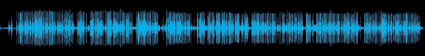 電子:電源オン、タイプ、中速、オフ...の再生済みの波形