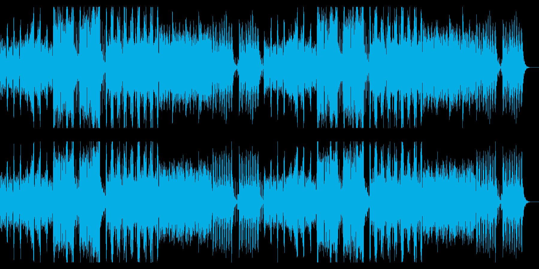 アコーディオンの怪しげな曲の再生済みの波形