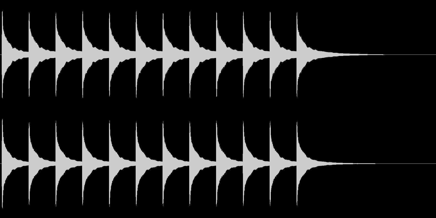 振り子時計 時報-2 チーンチーンの未再生の波形