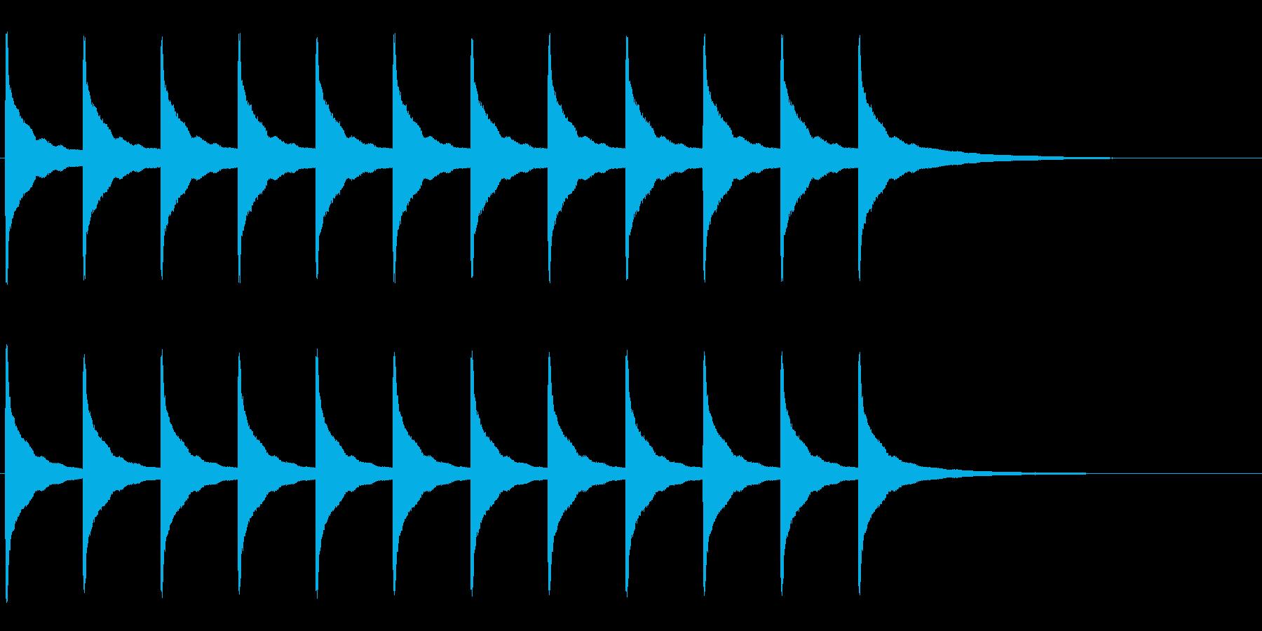 振り子時計 時報-2 チーンチーンの再生済みの波形