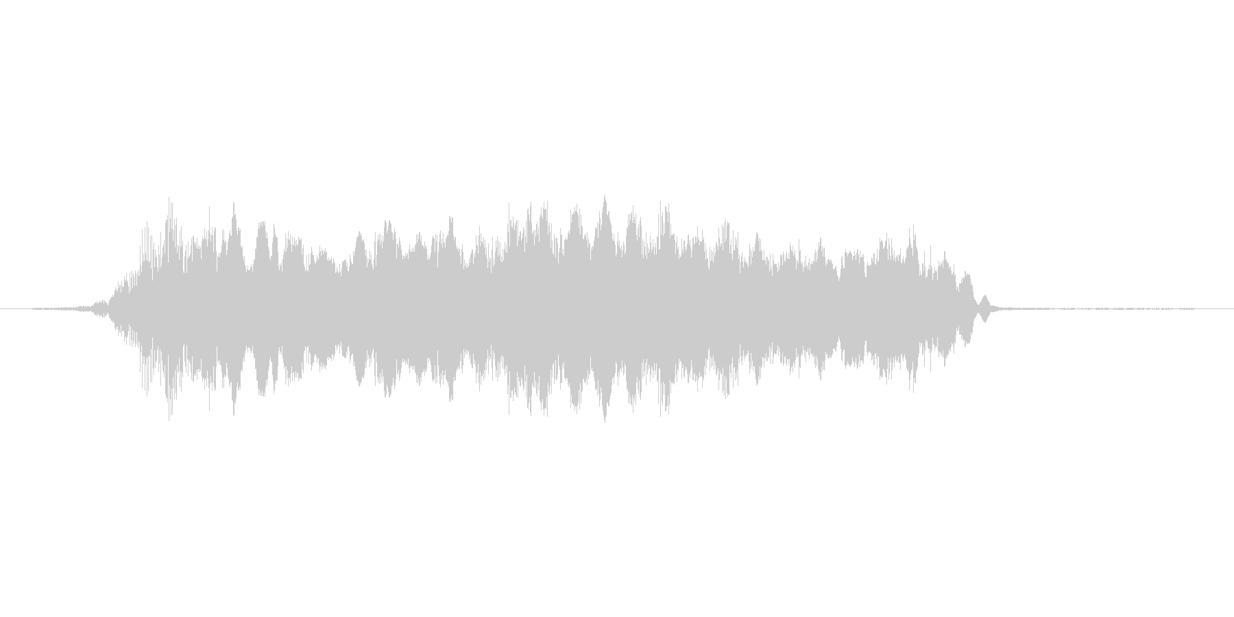 おばけの叫び声の未再生の波形
