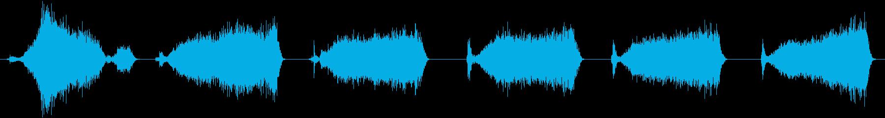 ハードブリストルプッシュほうき:コ...の再生済みの波形